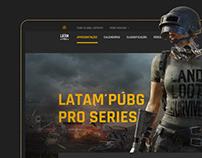 LATAM PUBG Pro Series . Latin-american Website