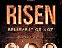 Risen Church Flyer Template