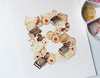 36 Days of type | Watercolour Alphabet