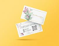 Florista | Arte gráfica de cartão de visitas e Hangtag