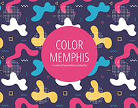 Color Memphis Free Seamless Pattern