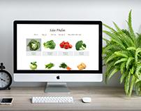 Organic food template