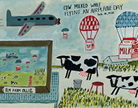 Yellow Pig Day - Cow Milked on an Airplane Day