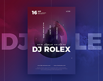DJ Concert Flyer Design