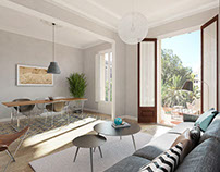 Architectural visualisation dwellings in Barcelona