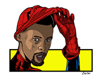 Miles Morales' Spiderman/Steph Curry Mashup