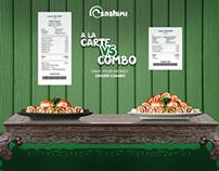 Sashimi Sushi Bar Social Media