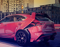 Lexus NX Wide Body Kit FanArt 3d render