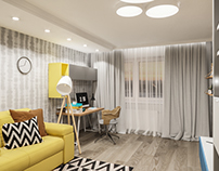 3d visualization of an apartment in Minsk.