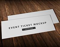Free Event Ticket Mockup Psd