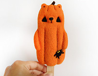 Popsicle Bear Pumpkin - Halloween