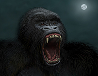 Digital Illustration: The Monkey On Your Back