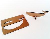 Kartonowe zwierzaki – Wieloryb 2 / Cardboard toys – Wha