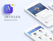 Articlex- Multipurpose iOS application design