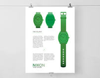 Nixon Time Teller P promotion leaflet and poster