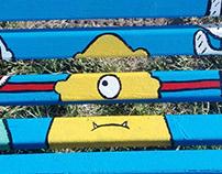 Bench street art project