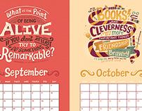 YA Calendar 2016