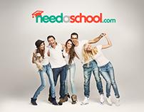 Needaschool - website design and brand identity