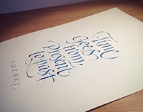 Quotes collection - calligraphy