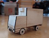 Minimal Wooden Truck