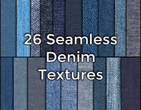 26 Hi Res Seamless Denim Fabric Textures by CG Elves