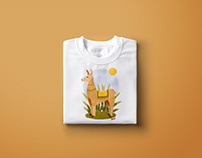 "T-shirt design ""Lama"""