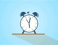 Clock Vector Icon Animation