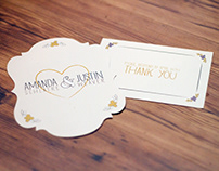 Amanda & Justin | Wedding Invitation