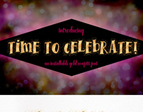 Time To Celebrate Gold & Confetti Font