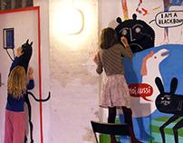 Wall painting in Copenhagen City School