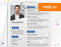 Lawyer resume template by resummme.com