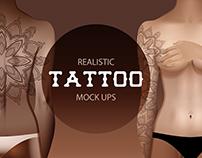Realistic tattoo mock ups