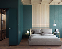 GREEN WOOD BEDROOM