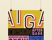 AIGA Maryville, Design After Dark Series Poster 3
