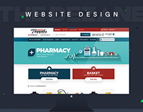 E-commerce Pharmacy & Supermarket store website design