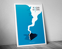 ROGER MOORE Tribute Poster