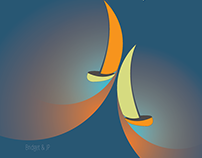 Minimalist Sailboats Illustrations Print and Poster