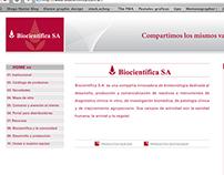 Maquetación web Biocientifica S.A.