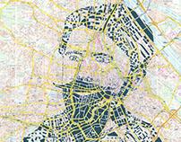 Human Cartography: Schnitzler / Vienna / Paper Cut Map