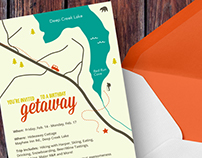 30th Birthday Getaway Invitation