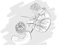 Illustrations for www.darrylhutton.co.uk