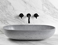 OVAL (concrete washbasin)