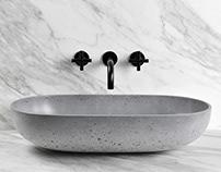 OVAL (concrete washbasin)