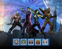 Design Interface - Gardiens de la Galaxie