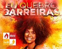 """Campanha """"Eu Quebro Barreiras"""" - Ibes/ Facsal (2015)"""