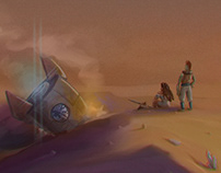 Martian Moongazing