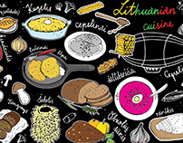"Illustration for Mug ""Lithuanian cuisine"""
