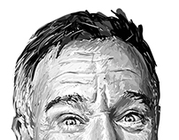 Robin Williams Portrait (Digital)