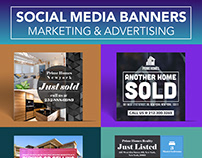 Social media banners for advertising and marketing