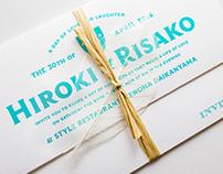 Wedding Invitation for Hiroki & Risako
